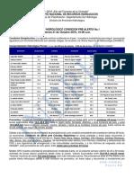 Boletín Hidrológico  Condición Alerta No.1 21-10-2016