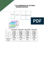 Cálculo de Luminarias de Oficinas Administrativas