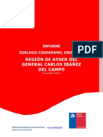 Informe Diálogo Ciudadano Región de Aysén