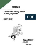 Manual de Intrucciones Powermax1650 Hypertherm