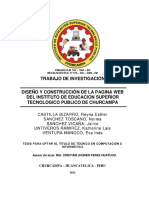 Proyecto Del Diseu00f1o de La Pagina Web
