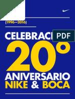 Nike & Boca 20 Años - Paper Infografía