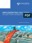 Implementing ISO 22301