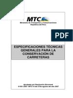 Especificaciones Tecnicas Genrls Para La Conservacion de Carreteras (1)