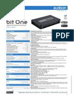 Audison Bit One -Sheet technical