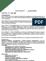 RESOLUCION DE ALCALDIA 119-2010/MDSA