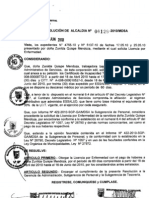 RESOLUCION DE ALCALDIA 129-2010/MDSA