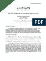 Clemson letter on findings