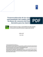 Transversalización de los riesgos y las oportunidades del cambio climático en las Bases de concurso del Fondo de la Iniciativa para las Américas