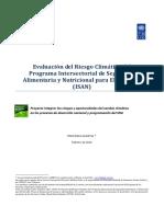 Evaluación del Riesgo Climático del Programa Intersectorial de Seguridad Alimentaria y Nutricional para El Salvador (ISAN)