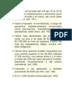 Cambios en Reforma Tributaria 2016