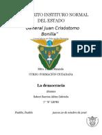 Concepto de Ciudadanía y Democracia en El México Actual