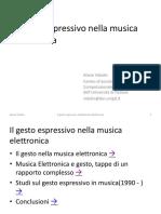 Storia Gesto Sonoro Musica Elettronica