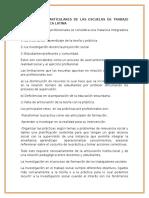 Los Desafíos Particulares de Las Escuelas de Trabajo Social en América Latina