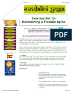 Exercise Set for Maintaining a Flexible Spine
