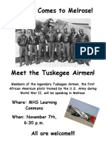 Tuskegee Airmen poster 2