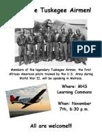 Tuskegee Airmen poster 3