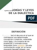 Categorías y Leyes de La Dialéctica