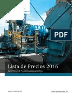 Lista de Precios Siemens 2016