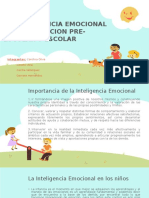 La Inteligencia Emocional en La Educacion Pre-escolar y