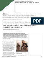 Una Modelo Revela El Truco Del Thigh Gap o Espacio Entre Los Muslos _ TELVA