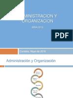 Presentacion MBA 2016 Administracion y Organizacion 1er Fin de Semana