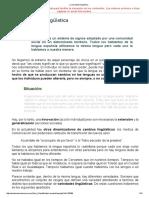 La Variedad Lingüística Tema 3
