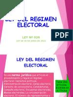 Ley 26 Regimen Electoral