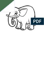 Plantilla Para Dibujar Un Elefante Modificado