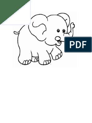 Plantilla Para Dibujar Un Elefante Con Orejas Grandesdocx
