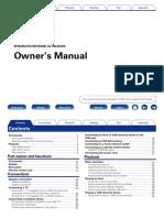 Denon AVR-X2000 Manual