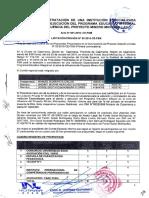 Acta de Presentacion y Evaluacion de Propuestas del Proceso de Licitación Privada N°03-2016-CE-FSM (Primera Convocatoria) Diseño y Ejecución del Programa Educativo Integral en la zona de influencia del Proyecto Minero Michiquillay