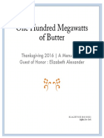 One Hundred Megawatts of Butter, Thanksgiving 2016 | A Menu Poem  Guest of Honor