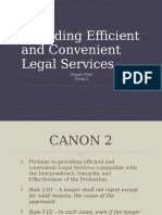 Report on Providing Efficient and Legal Services