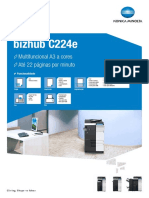 Bizhub c224e Ficha Tecnica