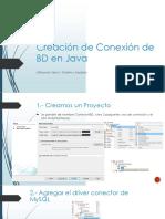 Creacion de Conexión de BD en Java
