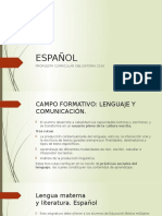 Propuesta Curricular 2016 Español