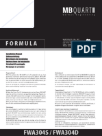 MANUAL - MBQ 08 Formula Subwoofer Manual