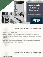 Apolinario Mabini y Maranan