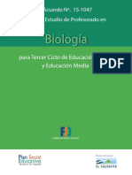 Plan de Estudio de Profesorado en Biologia
