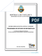 Programa Matematicas