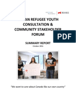 FINAL REPORT Syrian Refugee Youth Consultation and Forum
