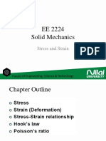 EE2224 - Solid Mechanics - Stress Strain