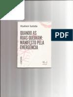 Vladimir Safatle - Quando as Ruas Queimam - Manifesto Pela Emergência (2016)