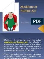 Modifiers of Human Act