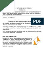 GUÍA de REFUERZO de CONTENIDOS - Rotacion, Traslación y Reflexion - Sexto