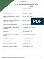 Calendario Escolar 2014-1