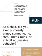 disruptive behavior disorder