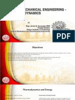 Thermodynamics Lecture 1