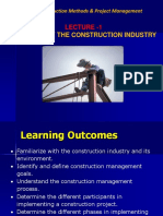 Lecture 1- Overview of the Construction Industry